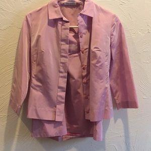Small Pink Tahari Skirt/Top Suite